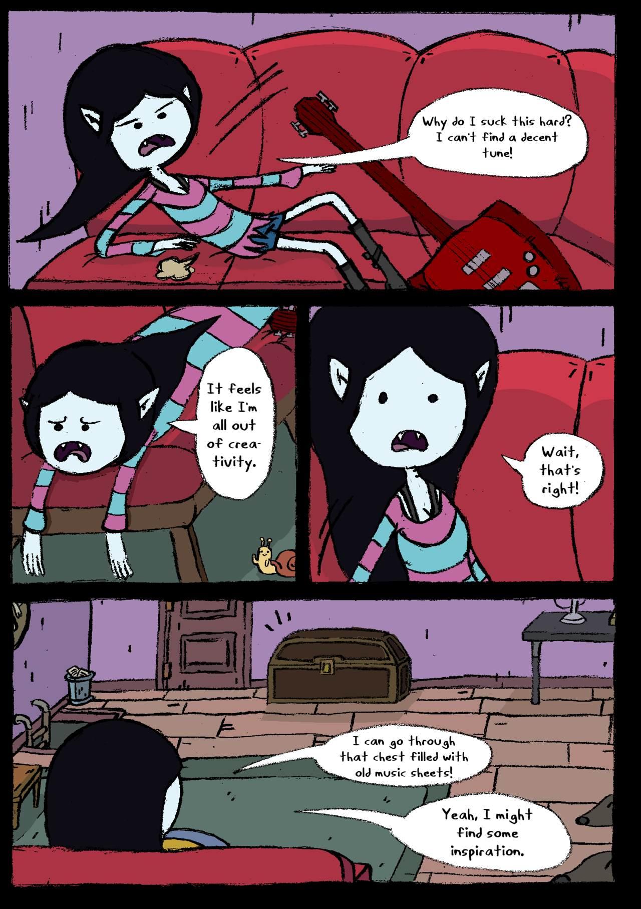 Adventure Time Pirn littleskullkid marceline's cursed night porn comics